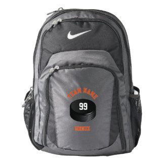 Personalized Hockey Puck-Ice Hockey Backpack