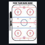 """Personalized Hockey Rink Game Planner Dry-Erase Board<br><div class=""""desc"""">A fine sporty custom embroidery design on a comfy casual embroidered gear you can also personalize to make it as unique as you are.                     Introducing</div>"""
