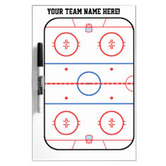 Personalized Hockey Rink Game Planner Dry-Erase Board at Zazzle