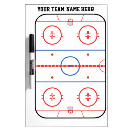 Personalized Hockey Rink Game Planner Dry-Erase Board
