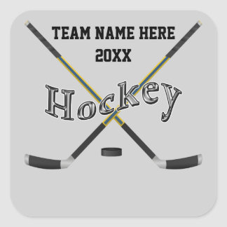 Personalized Hockey Stickers Your Text and Colors