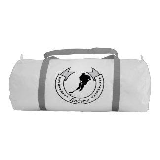 Personalized Hockey Team Banner Duffle Bag Gym Duffel Bag
