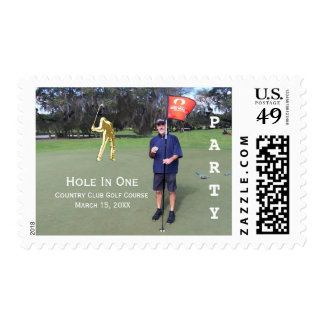Personalized Hole In One Golf Photo Save the Date Stamps