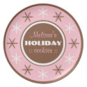 Personalized Holiday Cookies Winter Serving Plate plate