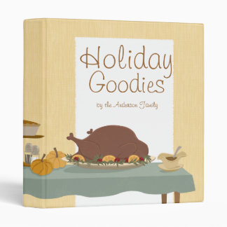 Personalized Holiday Dinner Recipe Binder