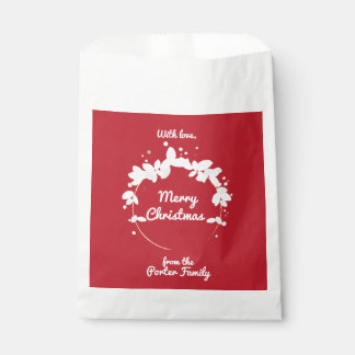 Personalized Holiday Favor Bag