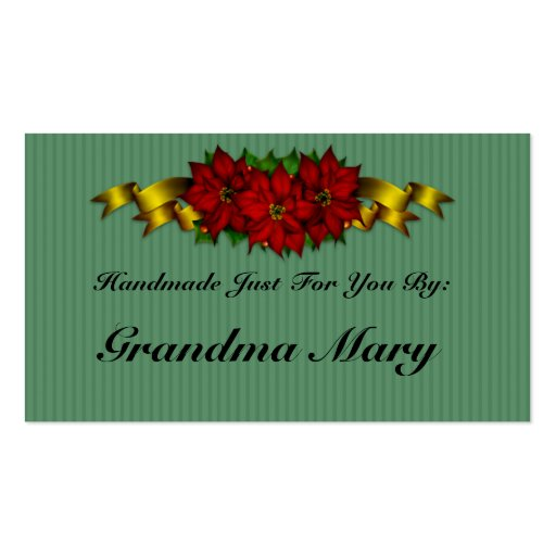 Personalized holiday gift tags business card zazzle for Personalized gift cards for businesses