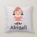 Personalized Holiday Girl Elf Pillow