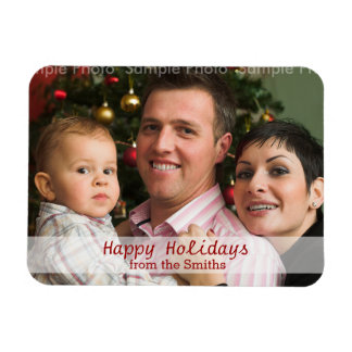 Personalized Holiday Message Christmas Photo Magnet