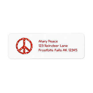 Personalized Holiday Peace Address Labels