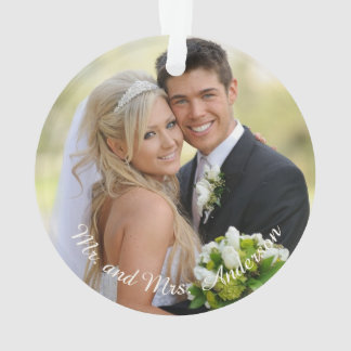 Personalized Holiday Photo Snowflake Ornament