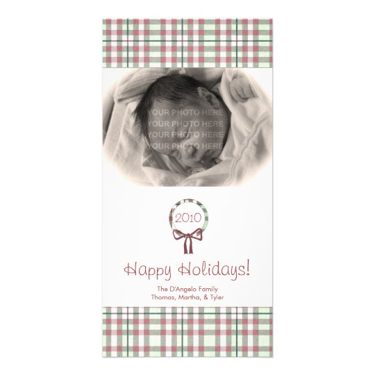 Personalized Holiday Plaid Photo Cards