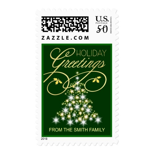 Personalized Holiday Postage - with Name