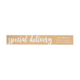 Personalized Holiday Return Address Labels | Gold