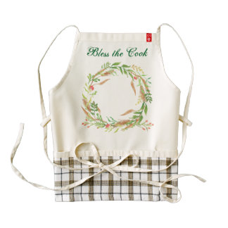 Personalized Holiday Rustic Wreath Apron