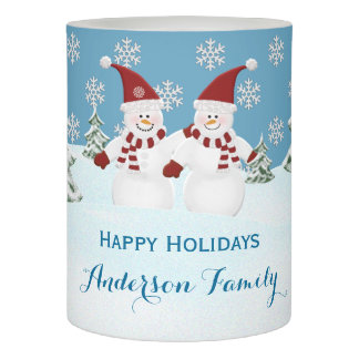 Personalized Holiday Snowfriends LED Candle