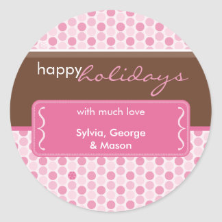 PERSONALIZED HOLIDAY STICKER :: spotted bracket 3