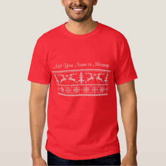 Personalized Holiday Tee Shirt