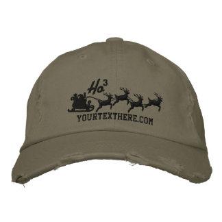 Personalized Holidays Santa Sleigh Ride Scene Baseball Cap