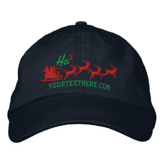 Personalized Holidays Santa Sleigh Ride Scene Cap