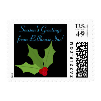 Personalized Holly Holiday Postage