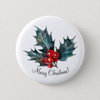 Personalized Holly Spring Christmas Pins