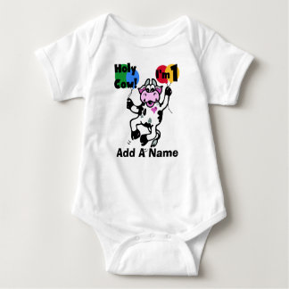 Personalized Holy Cow 1st Birthday Tshirt
