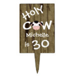 Personalized Holy Cow 30th Birthday Cake Topper