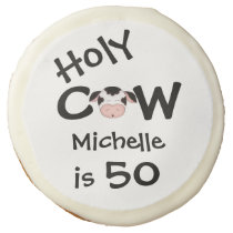 Personalized Holy Cow 50th Birthday Cookie Favors