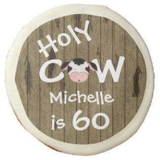 Personalized Holy Cow 60th Birthday Cookie Favors