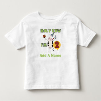 Personalized Holy Cow I'm 2 Birthday Tshirt