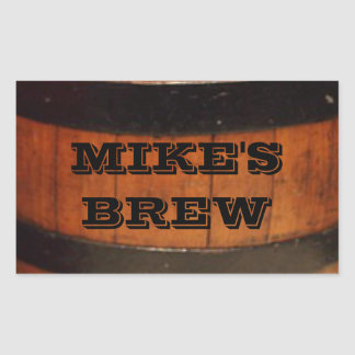 Personalized Home Brew Beer Labels Rectangular Sticker