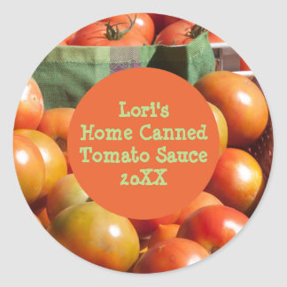 Personalized Home-Canned Tomato Product Template Classic Round Sticker