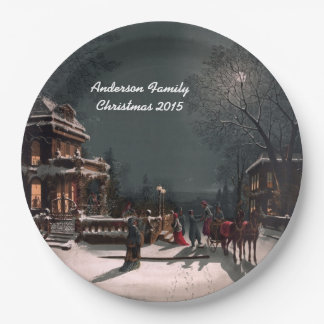 """Personalized """"Home for the Holidays"""" Paper Plates"""