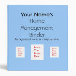Personalized Home Management Binder