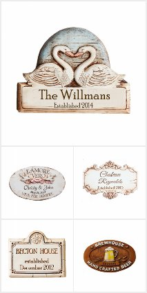 Personalized Home Plaques