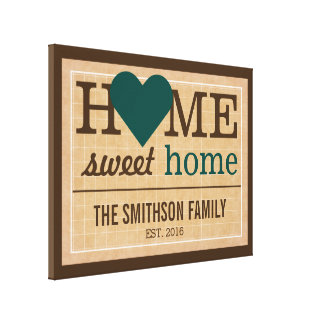 Personalized Home Sweet Home Family Welcome Sign