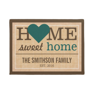 Personalized Home Sweet Home Family Welcome Sign Doormat