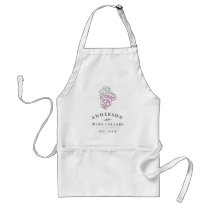 Personalized Home Wine Cellar Adult Apron