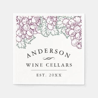 Personalized Home Wine Cellar Napkin