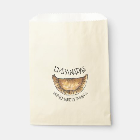 Personalized Homemade Empanadas Empanada Food Favor Bag