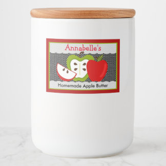 Personalized Homemade Food Apple Design Food Label
