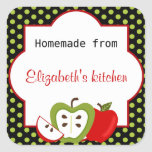 Personalized Homemade From Apples Large Sticker