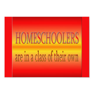 Personalized Homeschoolers Graduation Party Card