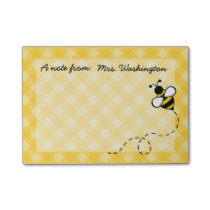 Personalized Honey Bee Post It Notes