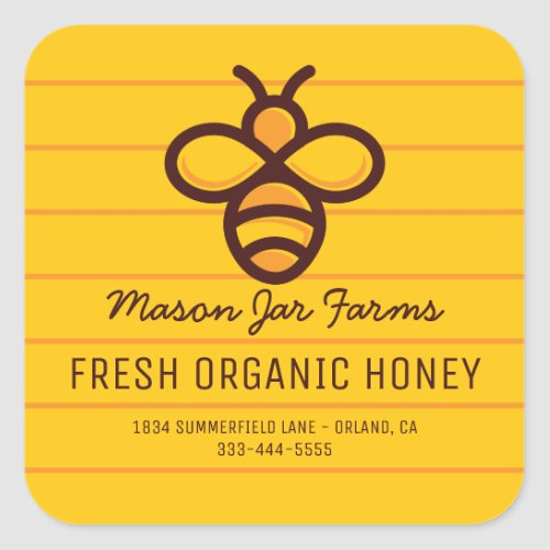 Personalized Honey Jar Labels  Honeycomb Bee
