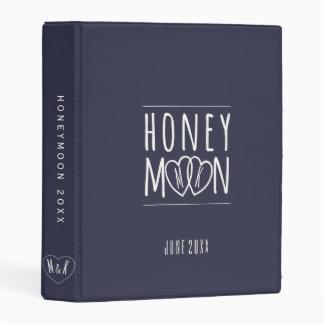 Personalized Honeymoon Hearts Scrapbook Mini Album Mini Binder