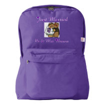 Personalized Honeymoon Newly wed gift Backpack