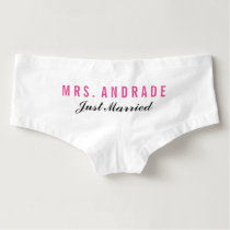 Personalized Honeymoon Panties Just Married Undies