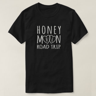 Personalized Honeymoon Road Trip | Light on Dark T-Shirt